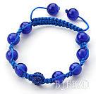 multi strand elastic crystal bracelet