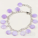10mm round lovely shell bracelet with extendable chain