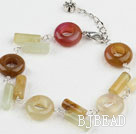 7 inches popular lucky three colored jade bracelet
