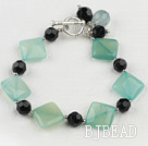 blue jade black crystal bracelet