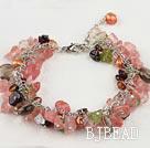 pearl garnet crystal bracelet