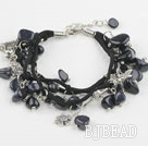 blue sandstone bracelet with extendable chain
