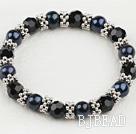 black pearl crystal bracelet