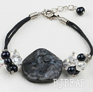 glitter stone bracelet with extendable chain