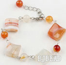 natural agate bracelet with extendable chain under $ 40