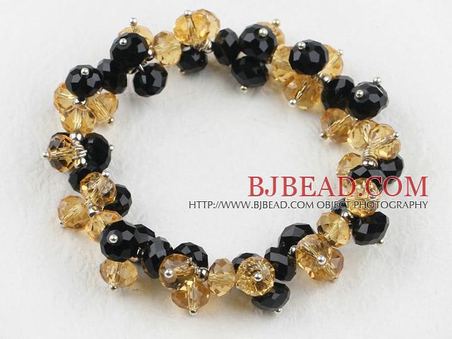 7 5 pulgadas de pulsera el stica mandmade negro y amarillo for Pandora jewelry amarillo tx