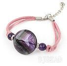 cute natural amethyst bracelet