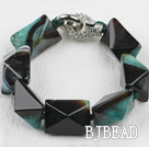 7.5 inches chunky style rutilated agate stone bracelet under $12