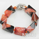 7.5 inches chunky style rutilated agate bracelet under $12