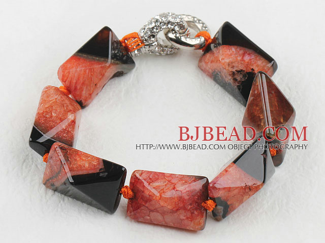 7.5 inches chunky style rutilated agate bracelet