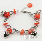new style coral bracelet with extendable metal chain