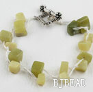 7.5 inches South Korea jade beaded bracelet