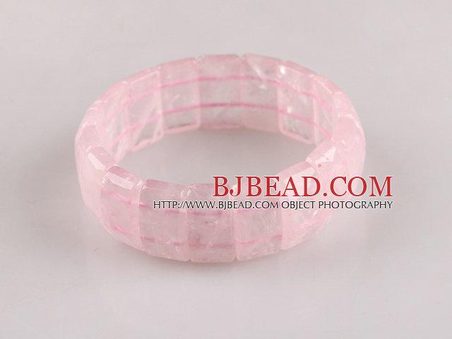 11*20mm rose quartze stretchy bangle bracelet