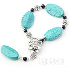 black pearl and turquoise bracelet with extendable chian under $2.5