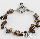 7.5 inches tiger eye bracelet with toggle clasp