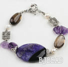 7.5 inches agate crystal bracelet with moonlight clasp