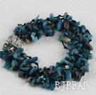 multi strand gemstone bracelet