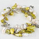 dyed pearl bracelet