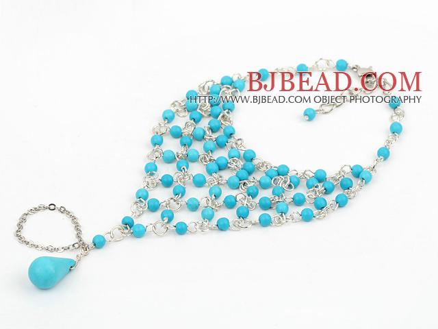 blue turquoise bracelet