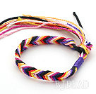 Multi Color Wish Thread Adjustable Woven Bracelet under $ 40