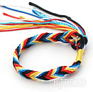 New Style Multi Color Wish Thread Adjustable Woven Bracelet under $ 40