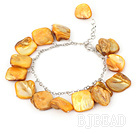 dyed gold shell bracelet with extendable chain