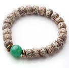 Vintage Style Single Strand Leaves the Bodhi Malaysian Jade Elastic Bracelet