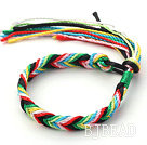 Simple Style Multi Color Wish Thread Adjustable Woven Bracelet under $ 40