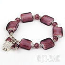 7.5 inches colored glaze bracelet with toggle clasp