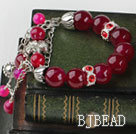 wonderful rose color agate bracelet with extendable chain