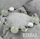 crystal and green rutilated quartz bracelet