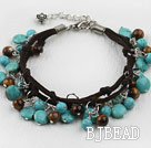 tiger's eye and turquoise bracelet under $12