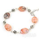 multi cloudy stone bracelet with lobster clasp
