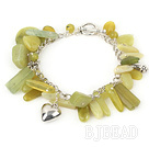 lemon jade bracelet with toggle clasp