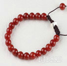 7.5 inches 8mm red agate brecalet with extendable chain