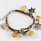 yellow colored glaze star charm bracelet with extendable chain under $ 40
