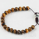 7.5 inches 8mm tiger eye beads with extendable chain