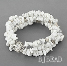 7 inches 3 strand 6-8mm howlite bracelet