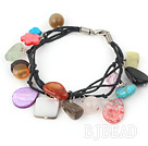 multi color stone bracelet with lobster clasp