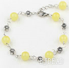 lovely 7.5 inches citrine bracelet with extendable chain under $ 40