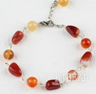 7.5 inches original color agate bracelet with extendable chain under $ 40