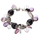 7.5 inches amethyst bangle bracelet