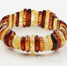 Multi Color Long Branch Shape Imitation Amber Elastic Bangle Bracelet