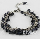 6-7mm blue sandstone bracelet with extendable chain under $5