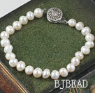 Lovely 6-7mm White Freshwater Pearl Bridal Wedding Bracelet