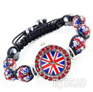 Fashion Style Red and Blue Color Rhinestone Ball Watch Drawstring Bracelet