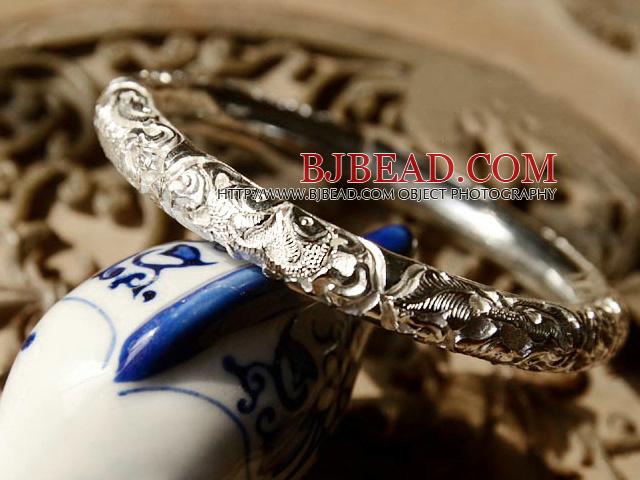 Classic Design Handmade 999 Sterling Silver Thin Bangle Bracelet