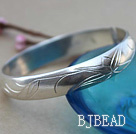 Bold Style Handmade 999 Sterling Silver Bangle Bracelet with Bamboo Pattern