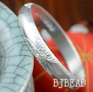 Bold Style Handmade 999 Sterling Silver Bangle with Flower Pattern
