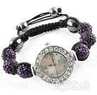Fashion Style viola scuro strass palle orol...